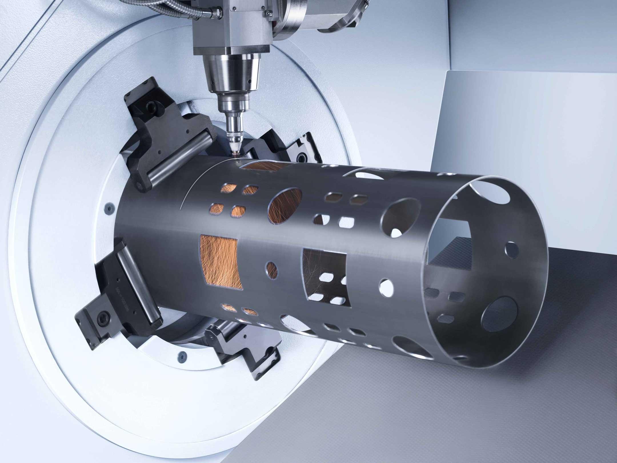 3D Rohrlaser Schneidanlage Trumpf Tube 7000